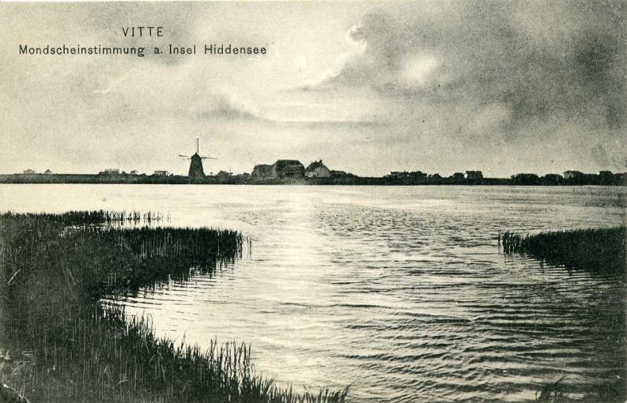 Insel Hiddensee a. Rügen Vitte Mondscheinstimmung a. Insel Hiddensee