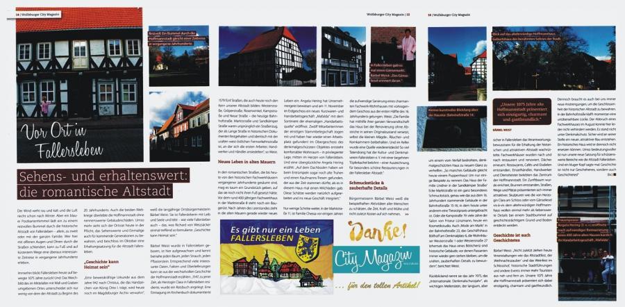 Wolfsburger City Magazin vor Ort in Fallersleben