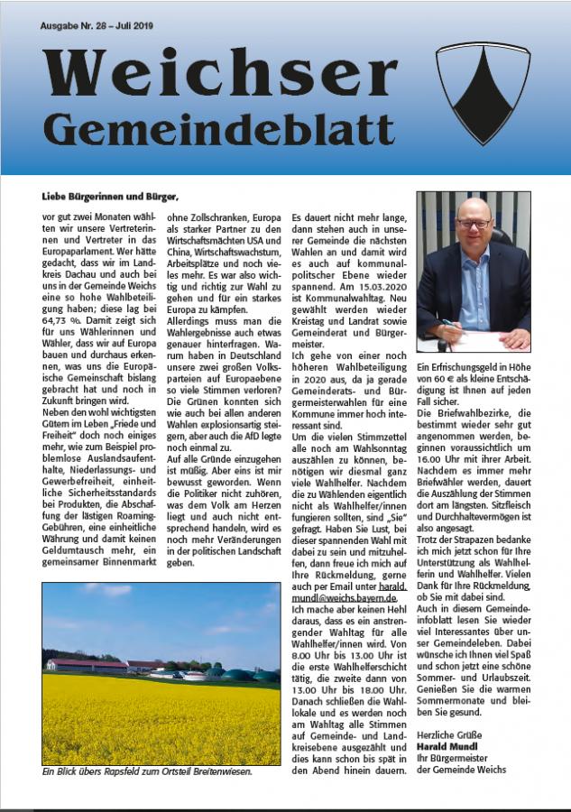 Vorschau Gemeindeinfoblatt