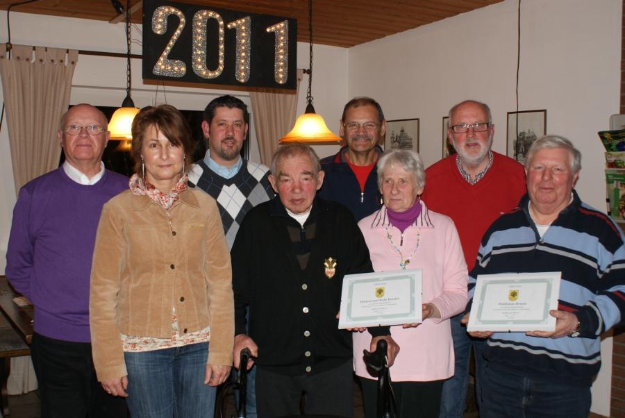 Vorstand und Jubilare 2011