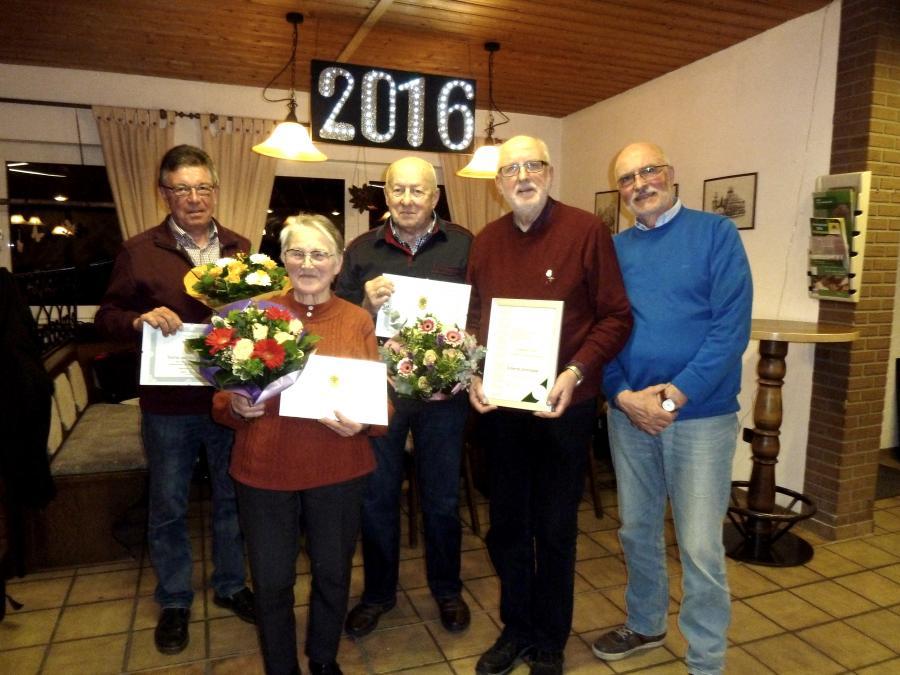 Vorstand und Jubilare 2016