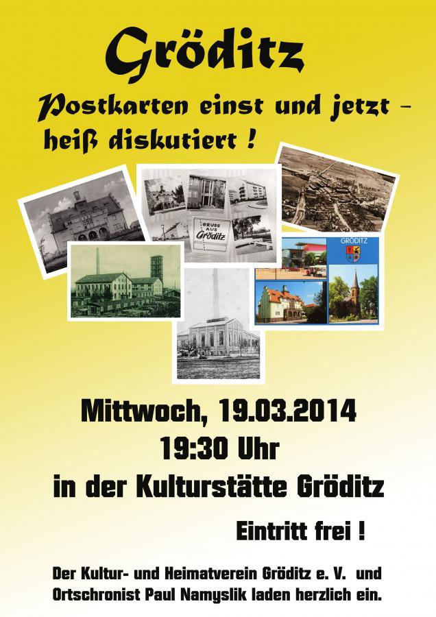 Gröditz Postkarten einst und jetzt