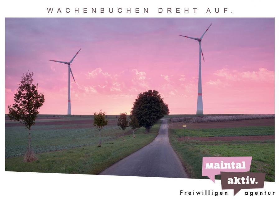 """Link führt zur PDF-Datei der Motiv-Postkarte """"Wachenbuchen dreht auf"""""""