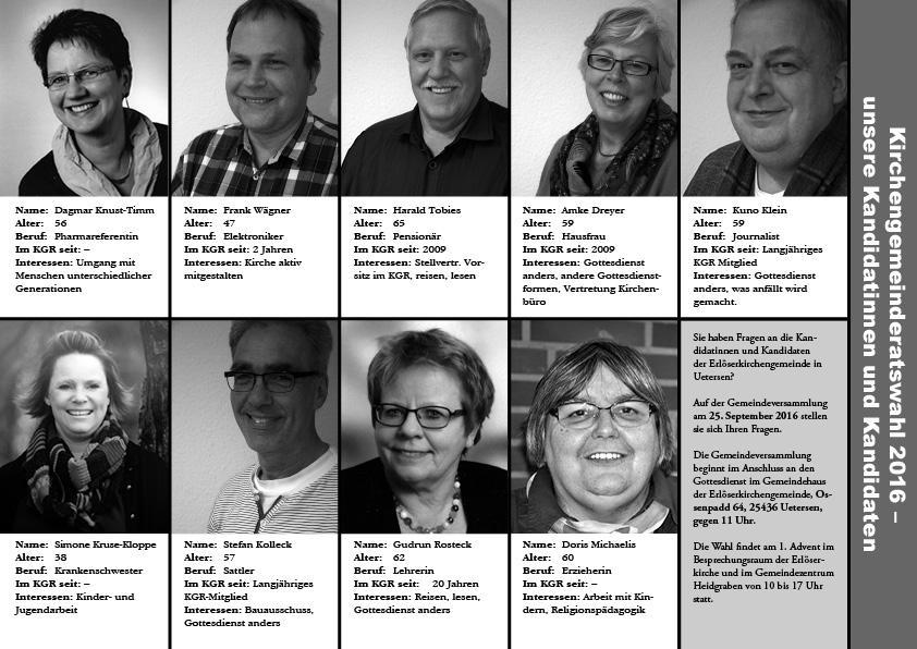 KandidatInnen Kirchengemeinderatswahl