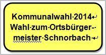 Wahl zum Ortsbürgermeister 2014