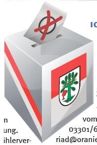 Wahlurne Oranienburg