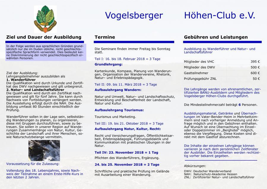 Wanderführer Ausbildung 2018 2