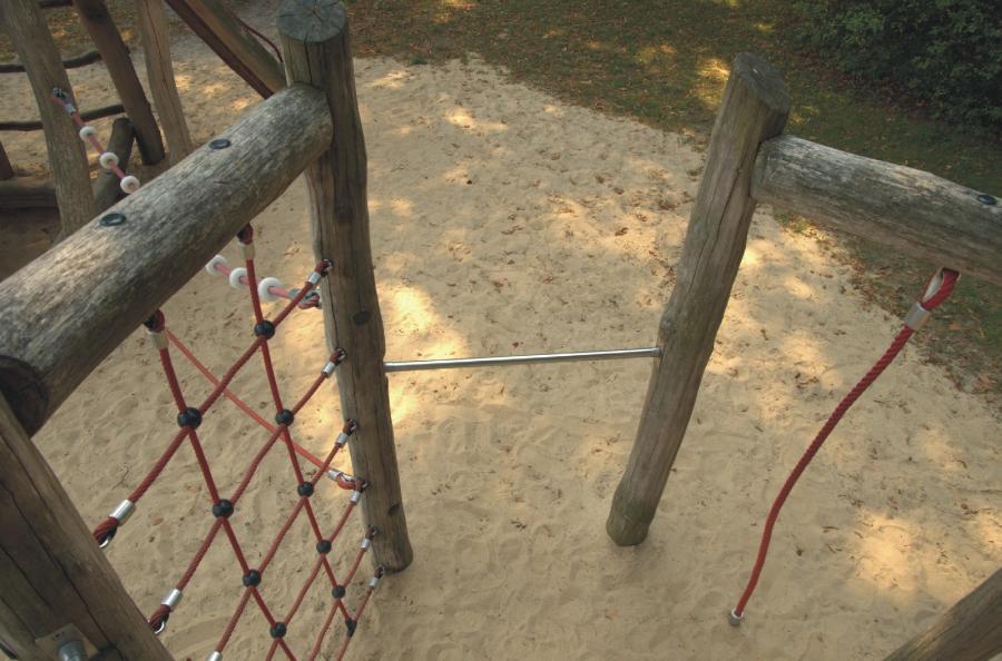 Wandlitz Spielplatz Am Schwalbenberg Klettergerüst, Foto: Urrutia