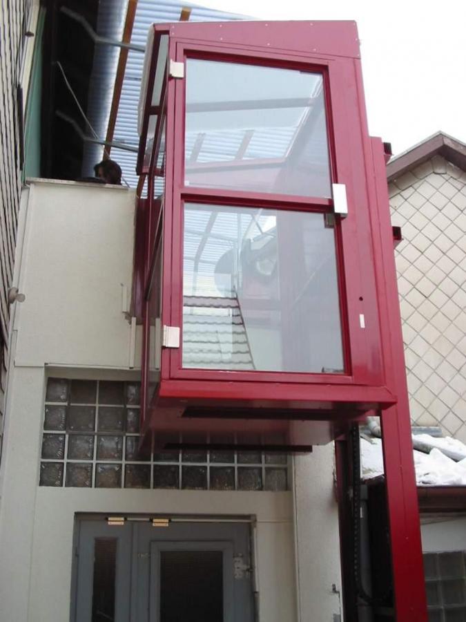 Kabinenlift, 2 Haltestellen, Außenanlage