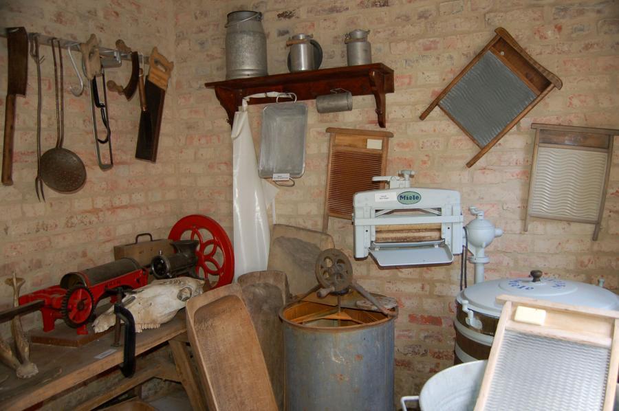 Wasch- und Schlachteküche im Museum
