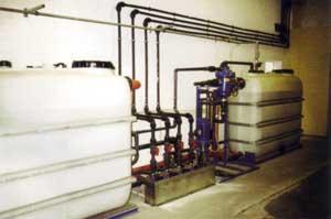 Rückspülfilter mit Filtereinsatz, Ozonisierung und Doppelenthärtung