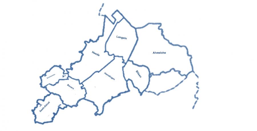 Versorgungsgebiet WVZV Rantzau