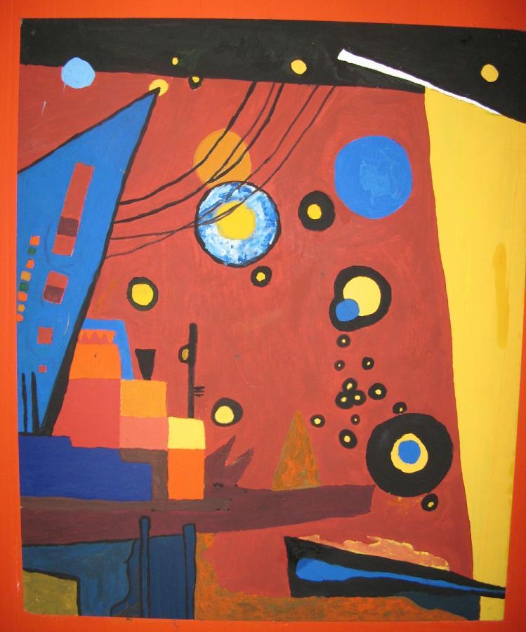 Wassily Kandinski, Schweres Rot