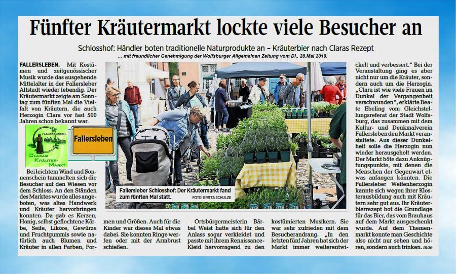 Bericht Kräutermarkt 2019