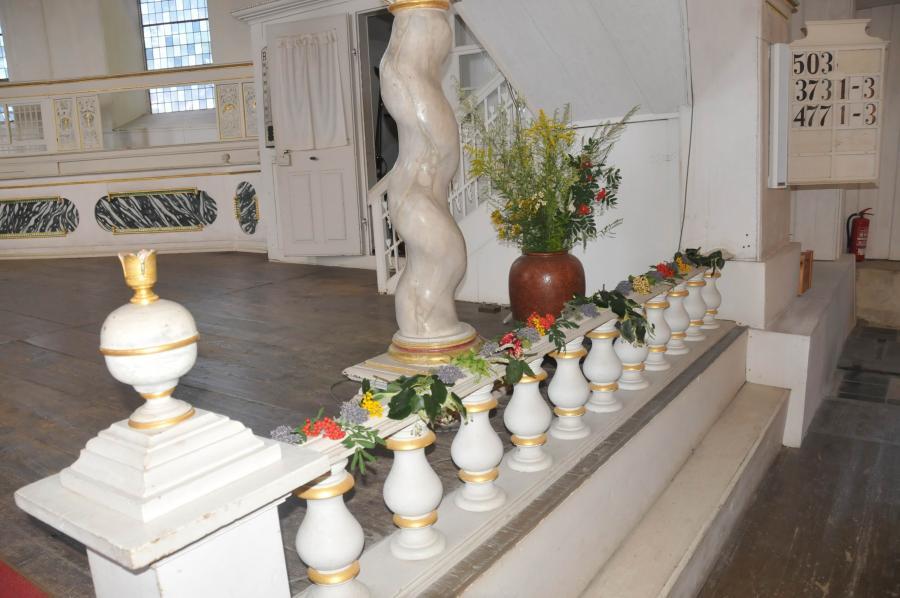 Kräuterschmuck zum Kräutergottesdienst an Mariä Himmelfahrt