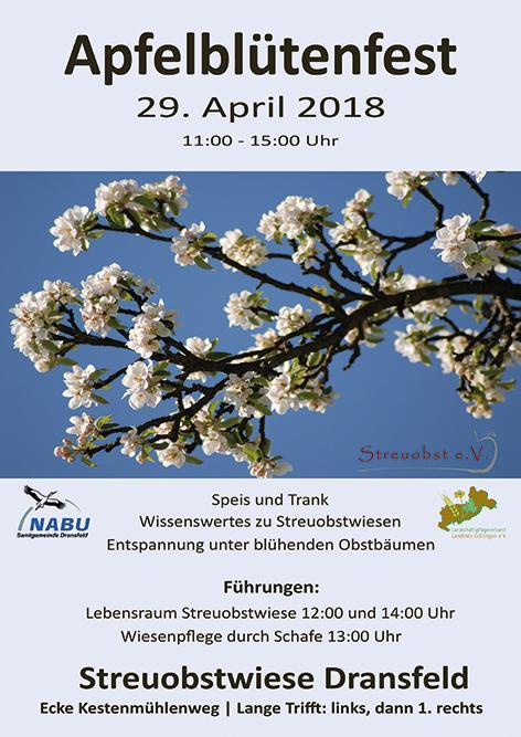 Apfelblütenfest Flyer