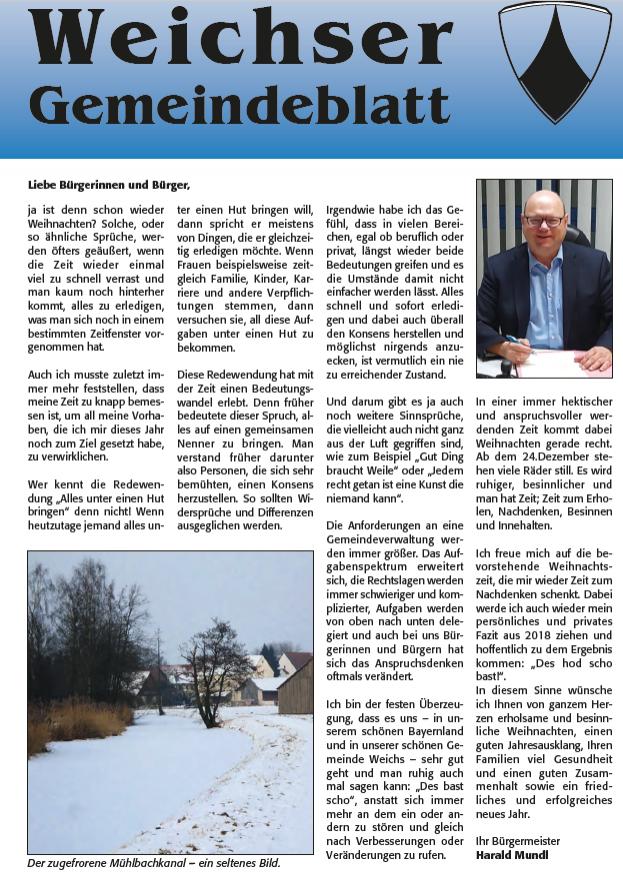 Weichser Gemeindeblatt
