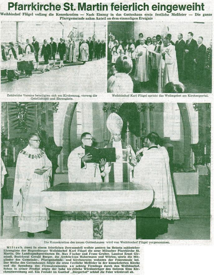 Weihe der Kirche Miltach 2