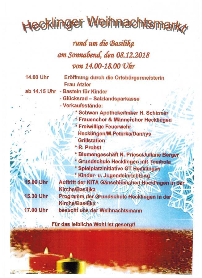 Hecklinger Weihnachtsmarkt 2018