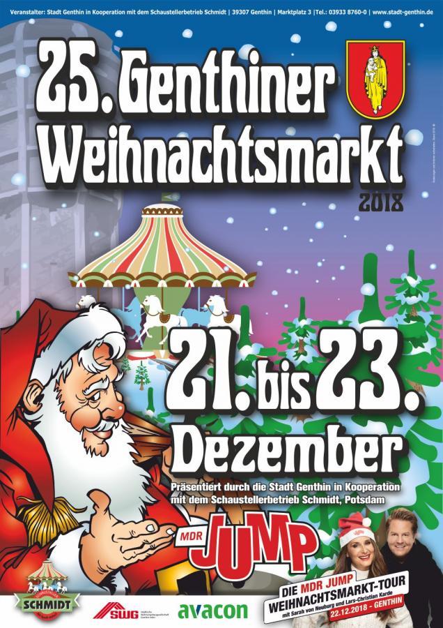 Plakat Genthiner Weihnachtsmarkt