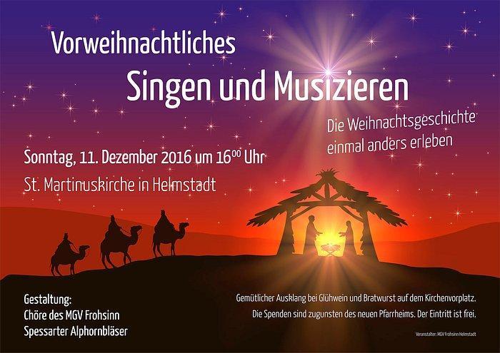 Vorweihnachtliches Singen und Musizieren 2016