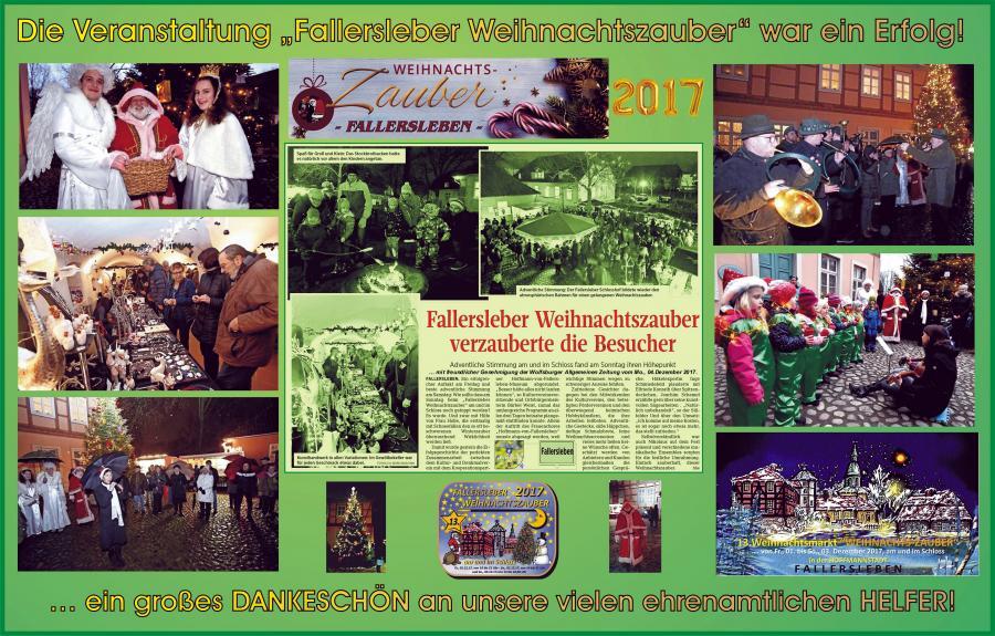Bericht vom Fallersleber Weihnachtszauber 2017