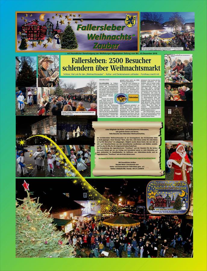 Bericht über den 14. Fallersleber Weihnachtszauber 2018