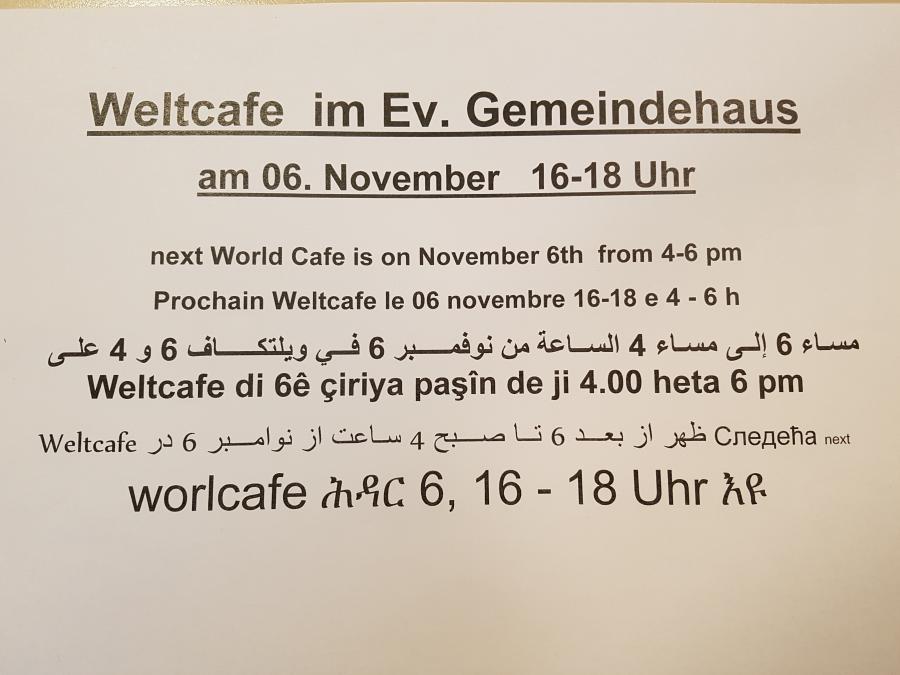Weltcafé 06.11.2017