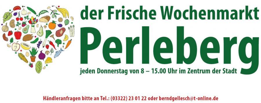 Werbebanner Wochenmarkt Perleberg