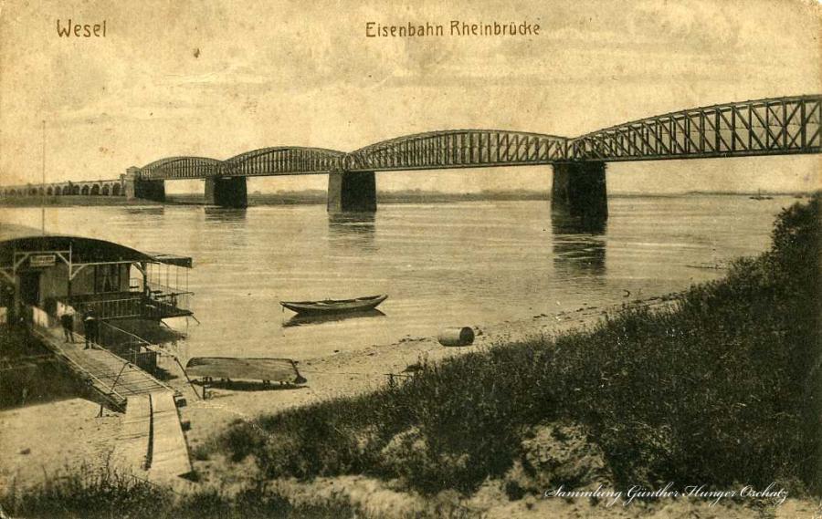 Wesel Eisenbahn-Rheinbrücke