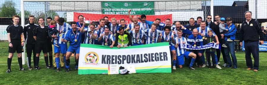 SV Blau-Weiß Günthersdorf II // Reservepokalsieger 2018/2019