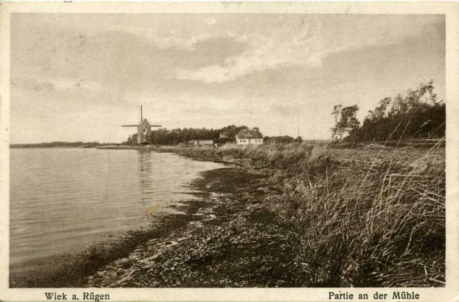 Wiek  Partie an der Mühle 1928