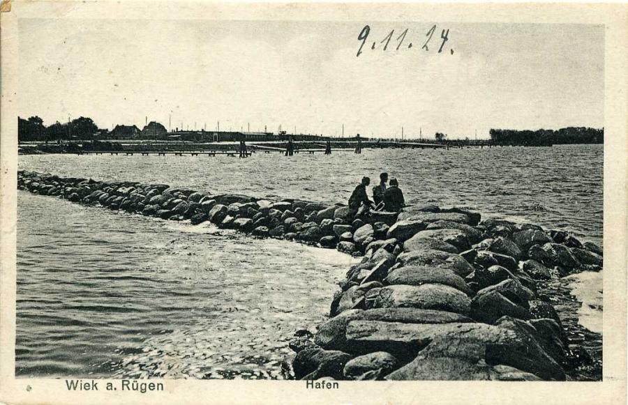 Wiek a.Rügen Hafen 1924