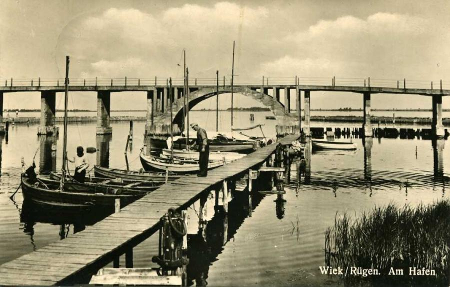 Wiek Rügen Am Hafen 1957