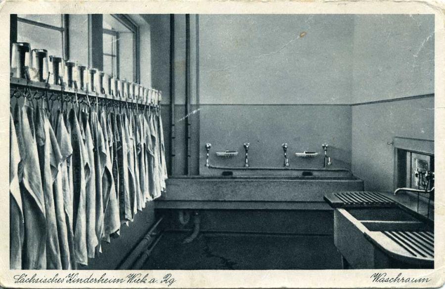 Sächsisches Kinderheim Waschraum
