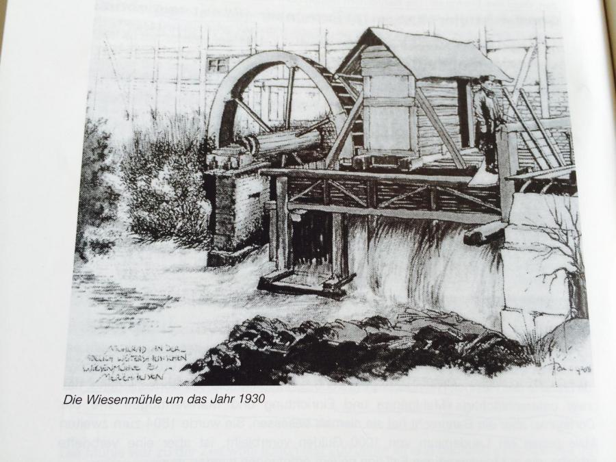 ehemalige Wiesenmühle, Ortsausgang in Richtung Gungelshausen, nach 1965 abgerissen
