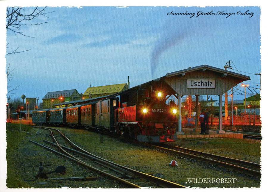Wilder Robert am Bahnhof Oschatz