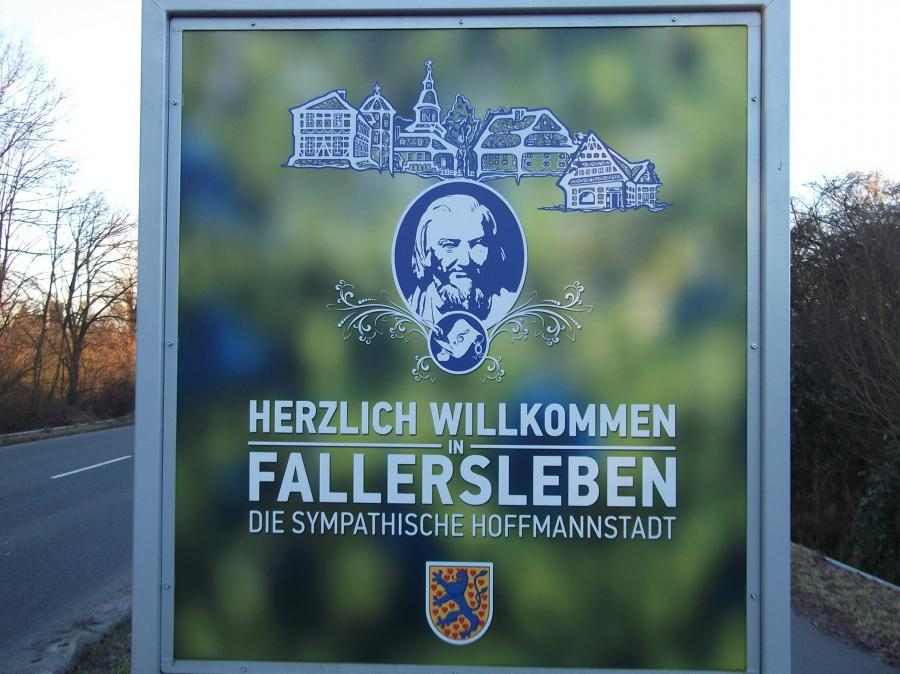 Willkommensschild Hoffmannstadt Fallersleben
