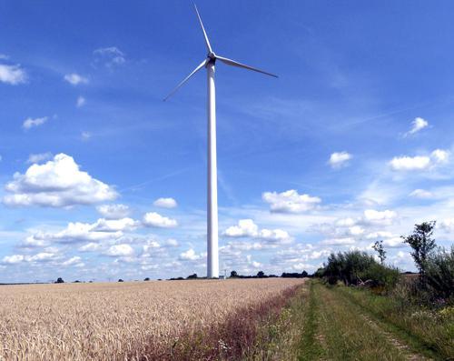 Windrad in der Regionalparkregion Barnimer Feldmark