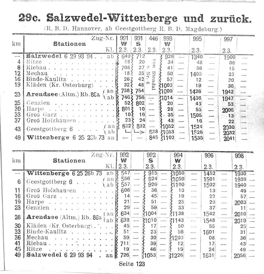 Fahrplan 1929 / 1930, Archiv Wolfgang List