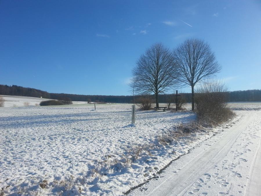 Winterlandschaft um Bettendorf im Januar 2019