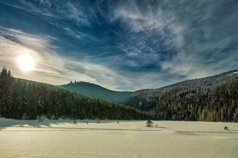 Winter am Kleinen Arbersee