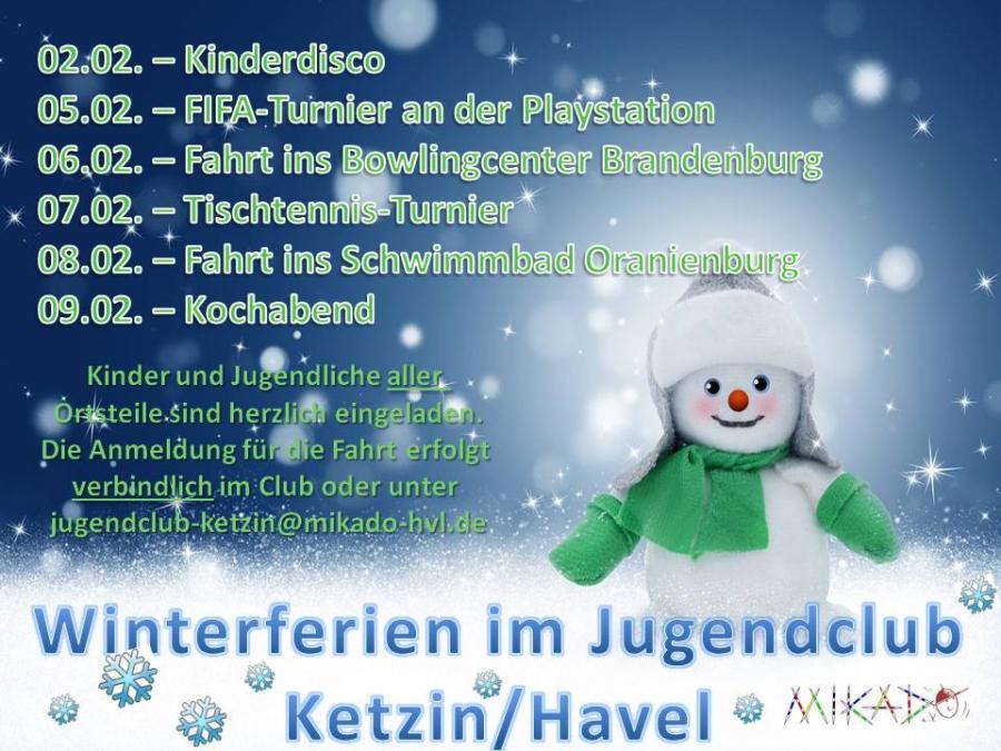 Programm Winterferien 2018