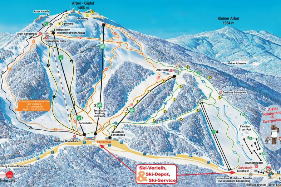 Winterpanorama Skigebiet Großer Arber