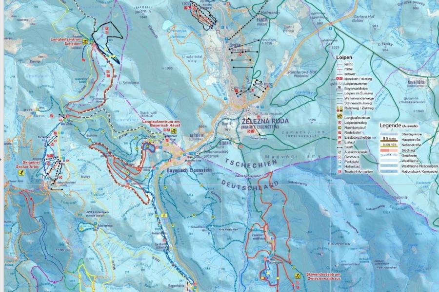 Wintersportkarte Bayerisch Eisenstein
