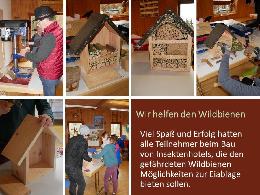 Insektenhotels bauen