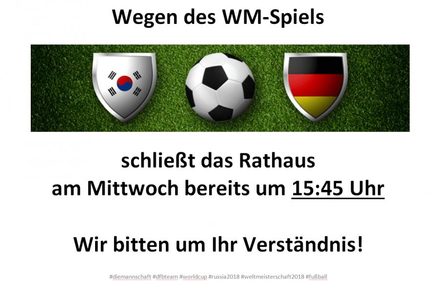 Schließung WM