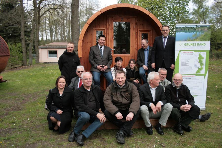 Unsere Wohnfässer in Mariental bei Grasleben werden eingeweiht