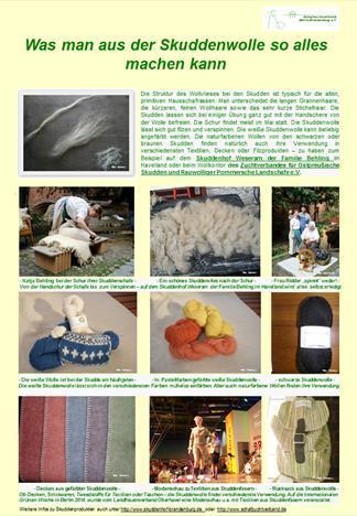Wolle von der Skudde