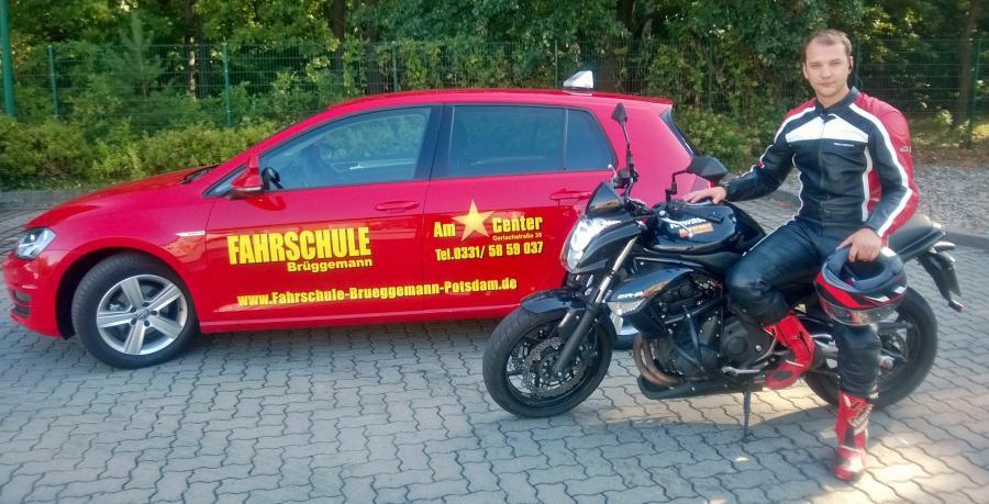 Fahrschulen in Potsdam, Fahrschule Brüggemann Am Stern-Center,bei uns werden alle Motorrad-Klassen ausgebildet.